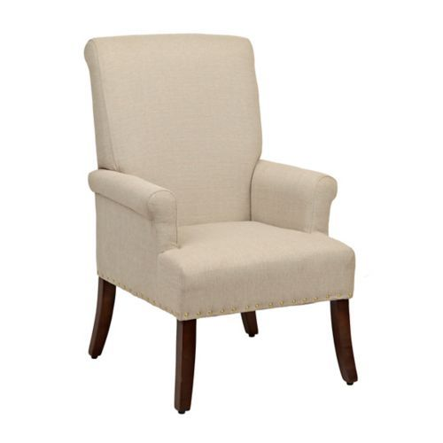 Kirkland's Jana Oatmeal Chair - farmhouse look for less - thediybungalow.com