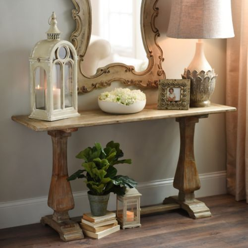 Kirkland's Wooden Trestle Table - farmhouse look for less - thediybungalow.com