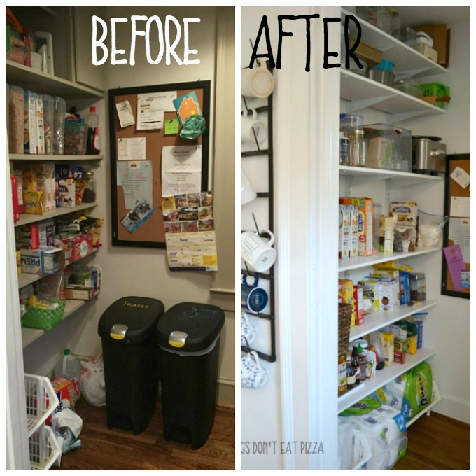 Kitchen Pantry Before and After - thediybungalow.com