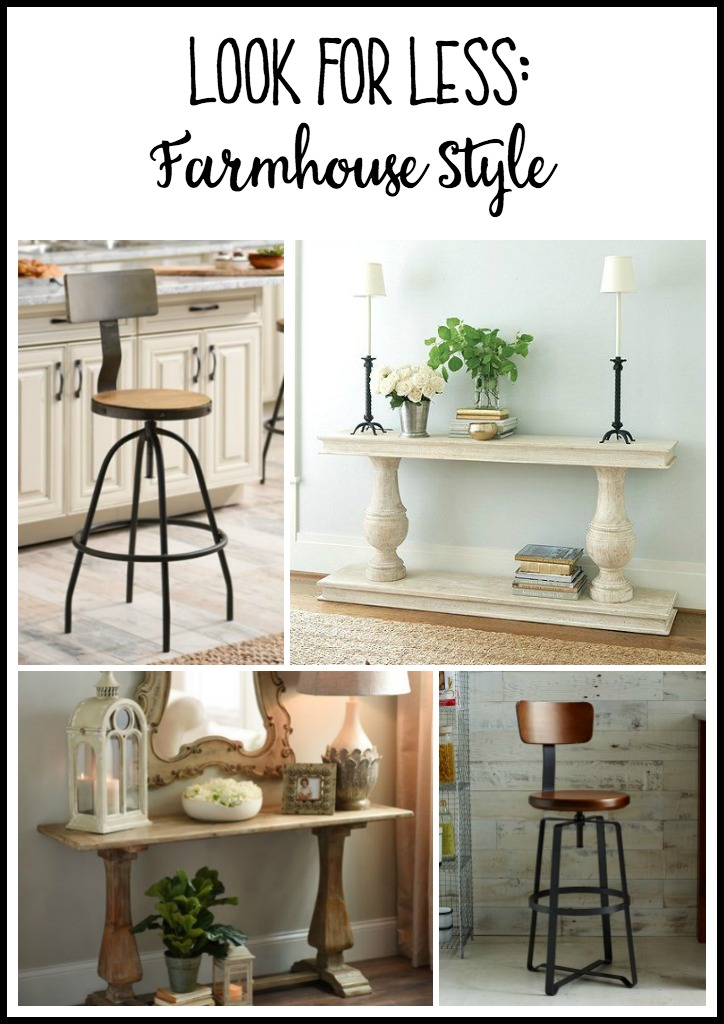 Get the look for less - farmhouse style decor - thediybungalow.com