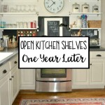 Open Shelving in the Kitchen: One Year Later