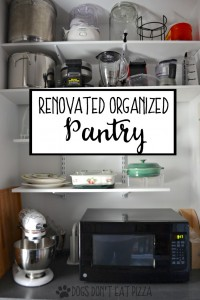 Renovated organized pantry with storage - thediybungalow.com