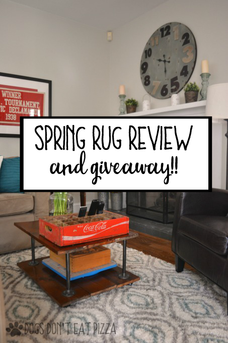 I'm getting ready for spring with a new rug - spring rug review and giveaway - thediybungalow.com