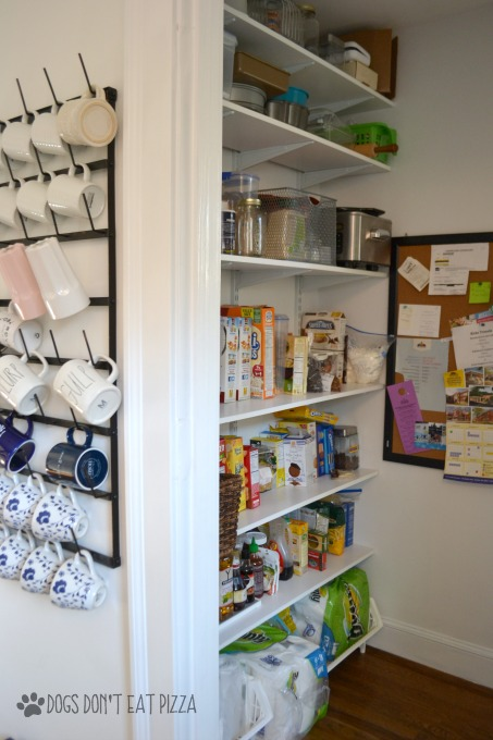 Storage in pantry - thediybungalow.com
