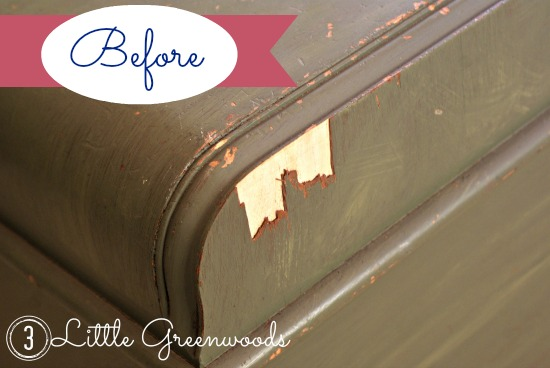 Wood Veneer Chest - 3 Little Greenwoods - thediybungalow.com