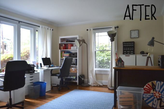 After photo - organized home office - thediybungalow.com