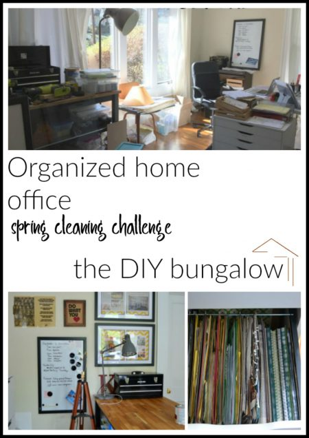 Organized Home Office - Spring Cleaning Challenge - thediybungalow.com