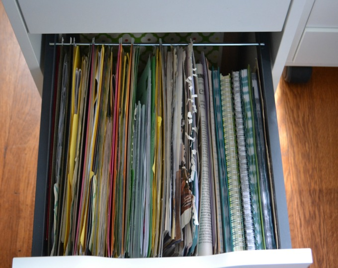 Organized files put away - organized home office - thediybungalow.com