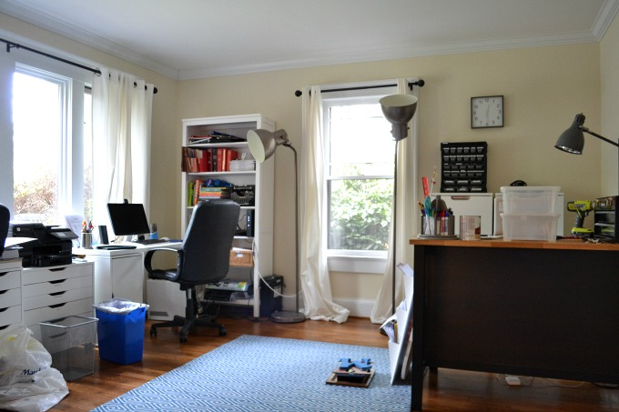 The process of organizing our home office - thediybungalow.com