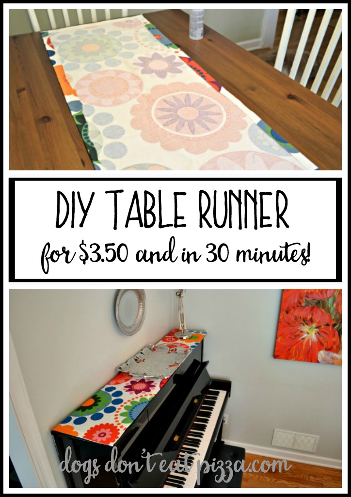 DIY Table Runner for $3.50 and in 30 minutes - thediybungalow.com