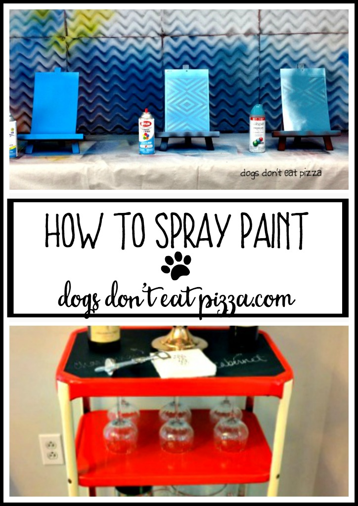 How to spray paint - TheDIYBungalow.com