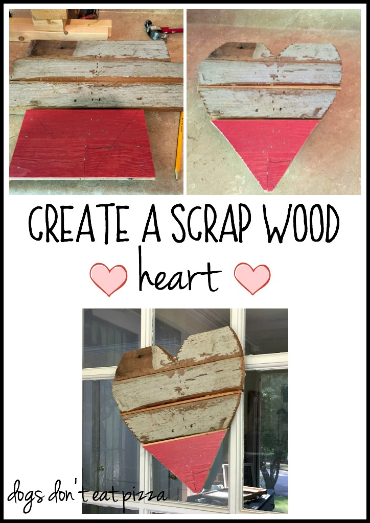 Create a DIY scrap wood heart - thediybungalow.com