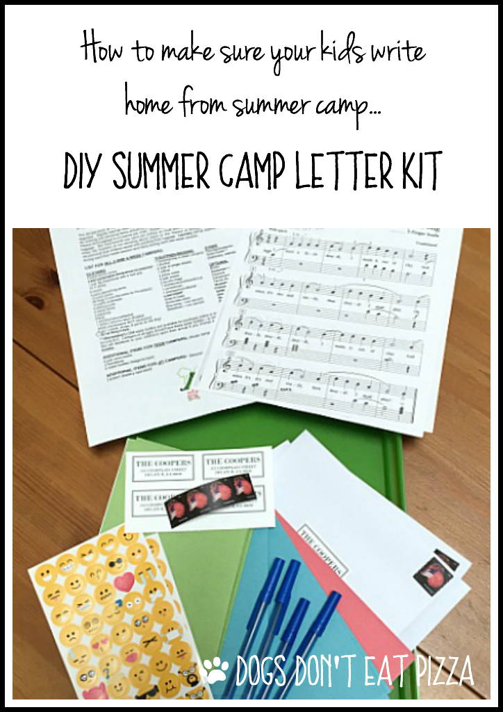 How to Make Sure Your Kids Write Home from Summer Camp - DIY Summer Camp Letter Kit - from thediybungalow.com