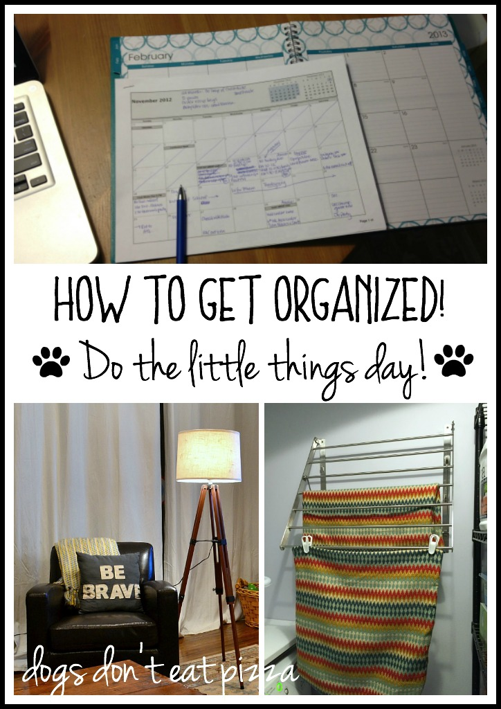 How to get organized - have a Do the Little Things Day - thediybungalow.com