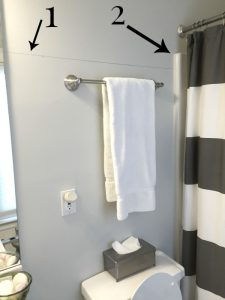 Help me decide the position of wainscoting in bathroom - thediybungalow.com
