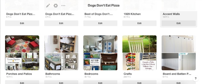 The DIY Bungalow's Pinterest Boards - organized by room or category