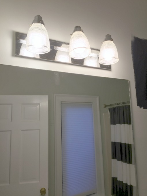 New light fixture shades for guest bathroom - thediybungalow.com
