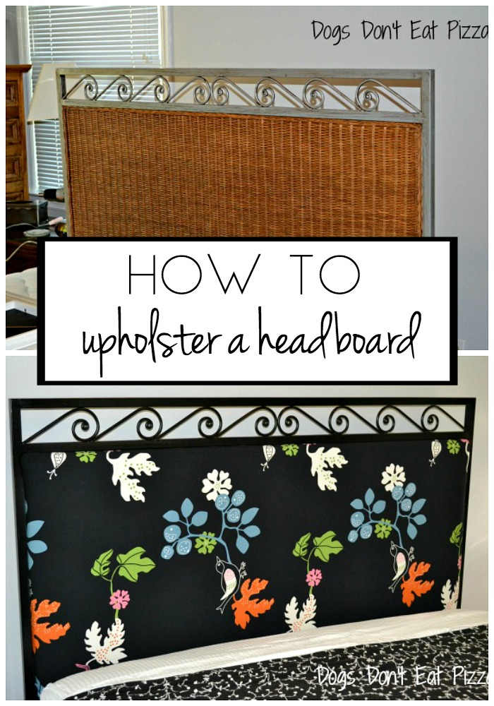 How to Upholster a Headboard - an easy DIY project - thediybungalow.com