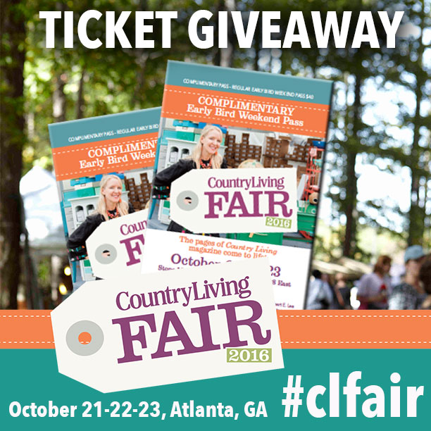 Country Living Fair ticket giveaway - thediybungalow.com