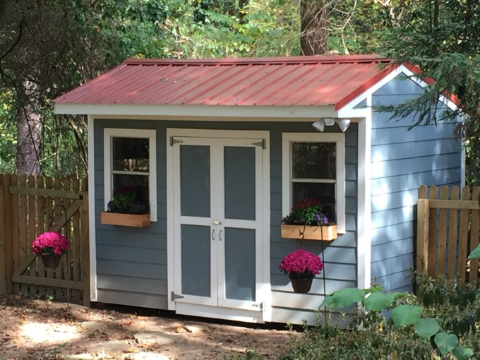 Workshop and storage shed - thediybungalow.com