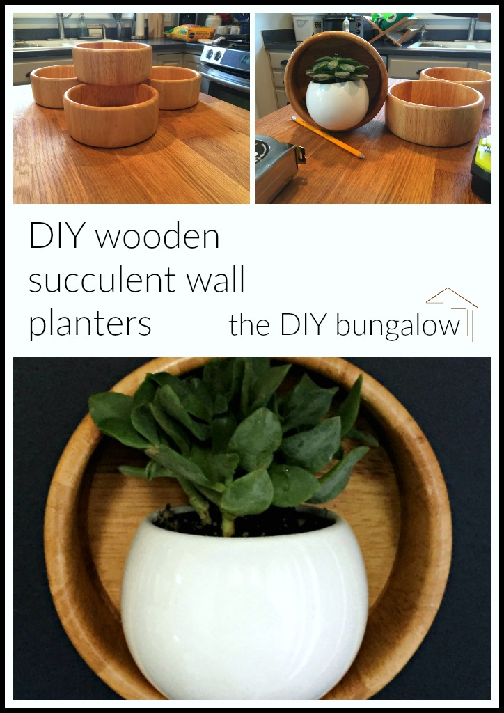 DIY wooden wall planters - thediybungalow.com