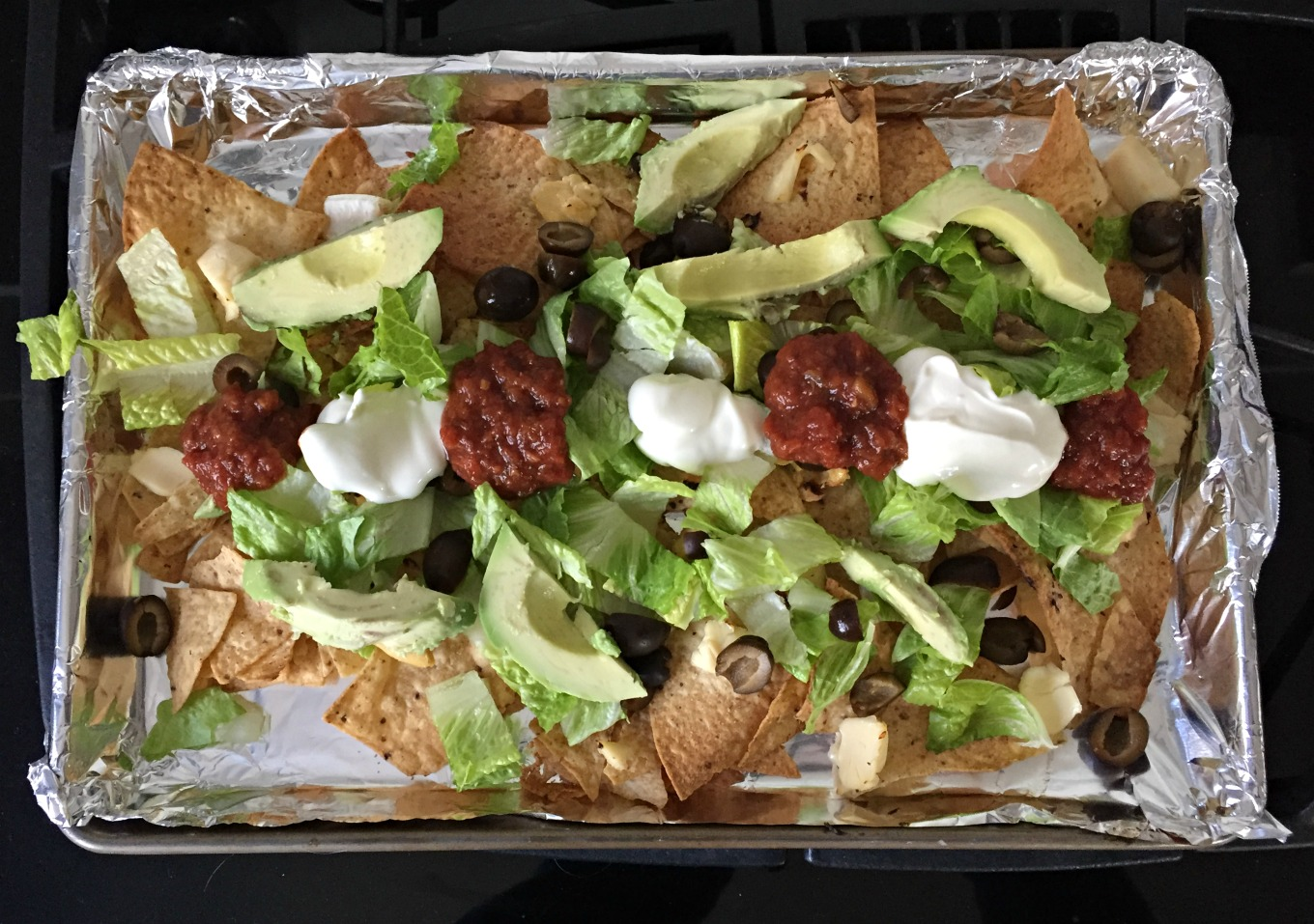 Nachos with The Laughing Cow Cheeses and toppings - thediybungalow.com