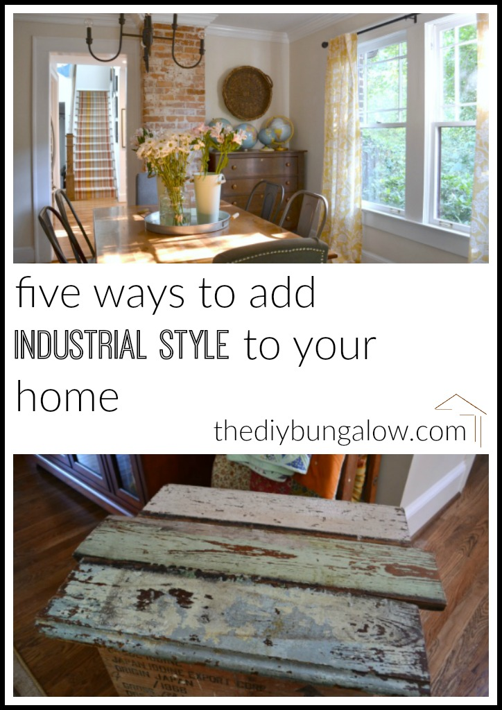 Five ways to add industrial style to your home - thediybungalow.com