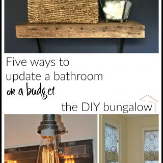 Five ways to update a bathroom on a budget - thediybungalow.com