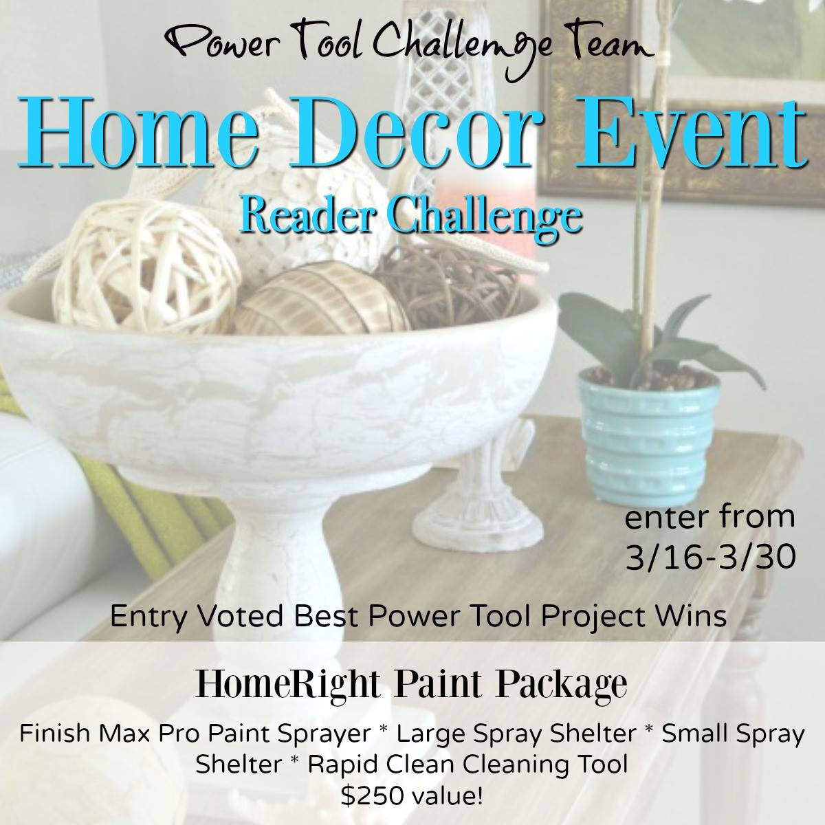 Power Tool Challenge Home Decor Event - thediybungalow.com