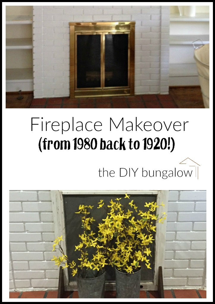 Fireplace makeover - thediybungalow.com