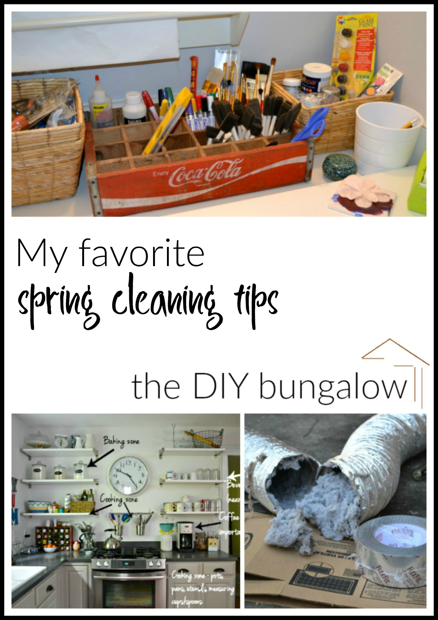 My favorite spring cleaning tips - thediybungalow.com