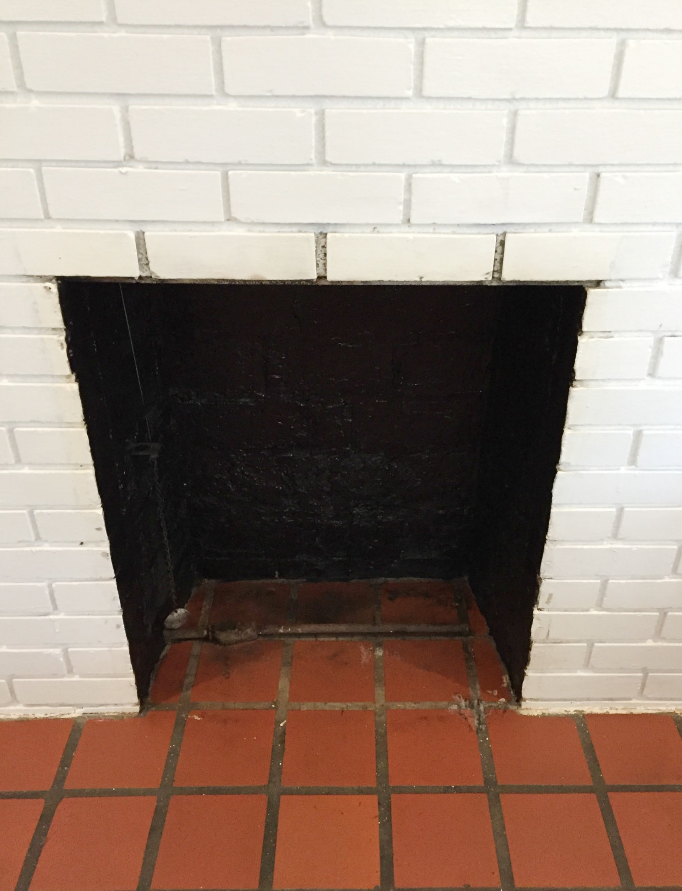 So much better after cleaning fireplace firebox - thediybungalow.com