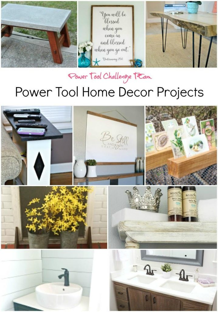 Power Tool Challenge Home Decor Reader Challenge - thediybungalow.com