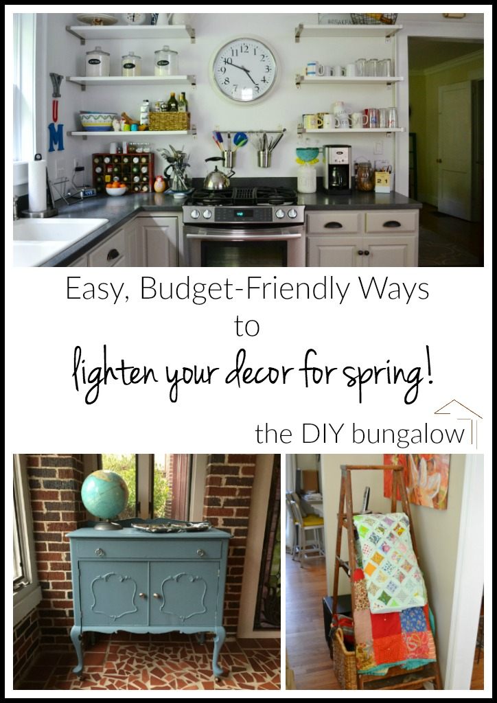 Easy budget-friendly ways to lighten your decor for spring - thediybungalow.com