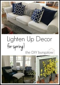 Lighten up decor for spring - thediybungalow.com