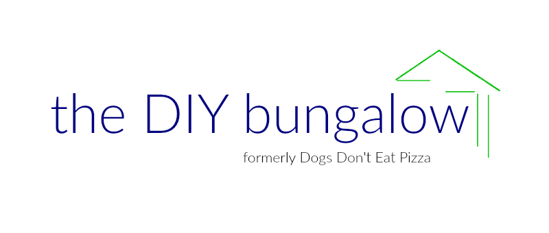 Blue and green header logo - thediybungalow.com