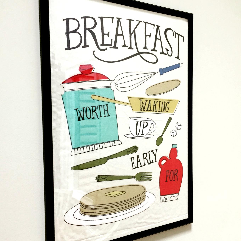 Framed tea towel as art - thediybungalow.com
