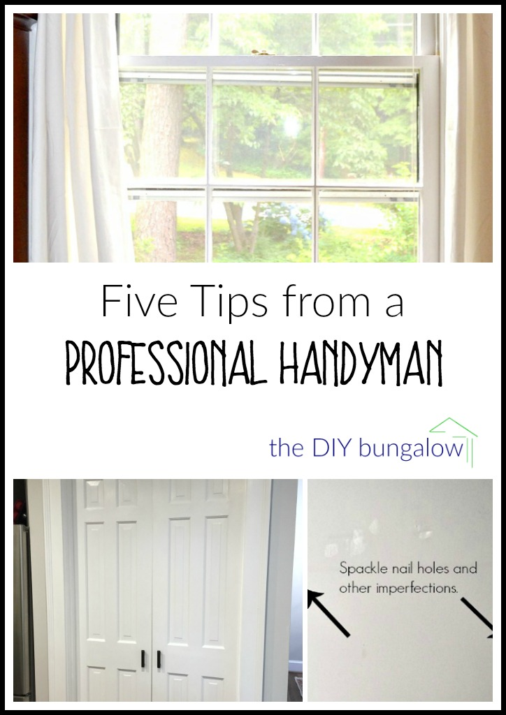 Five tips from a professional handyman - thediybungalow.com