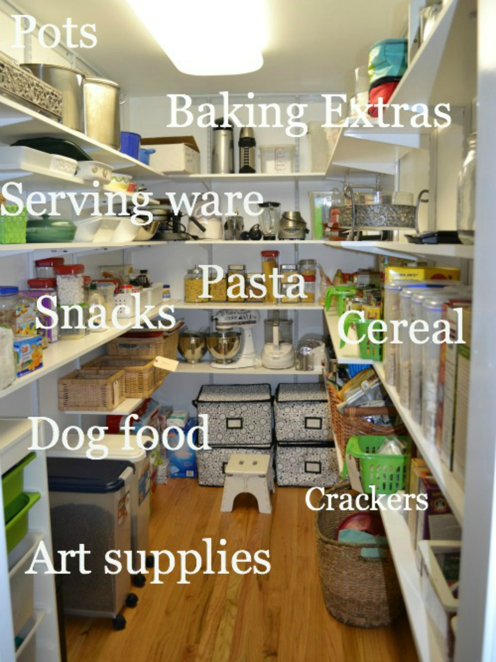 How to organize a pantry into zones - thediybungalow.com