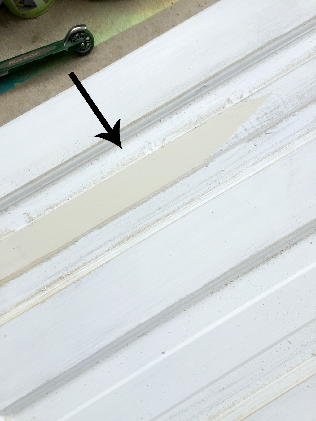 Paint started peeling off in sheets when I sanded the doors - thediybungalow.com