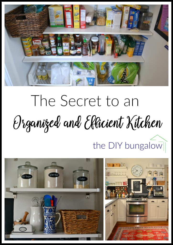 Sharing my secret to an organized and efficient kitchen and you can apply these tips to any room in your home - thediybungalow.com
