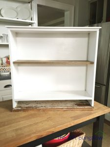 Turn an old drawer into a cabinet for great storage - thediybungalow.com
