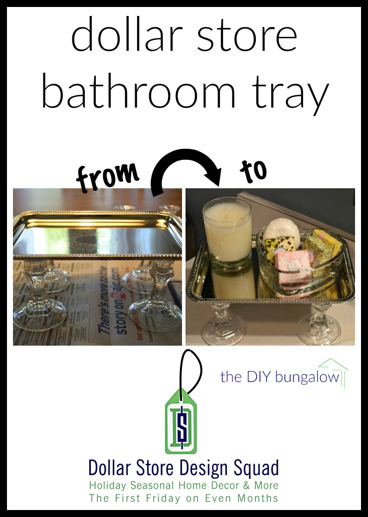 Create a dollar store bathroom tray - thediybungalow.com
