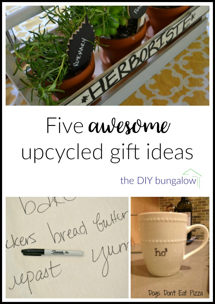 Five awesome upcycled gift ideas from thediybungalow.com
