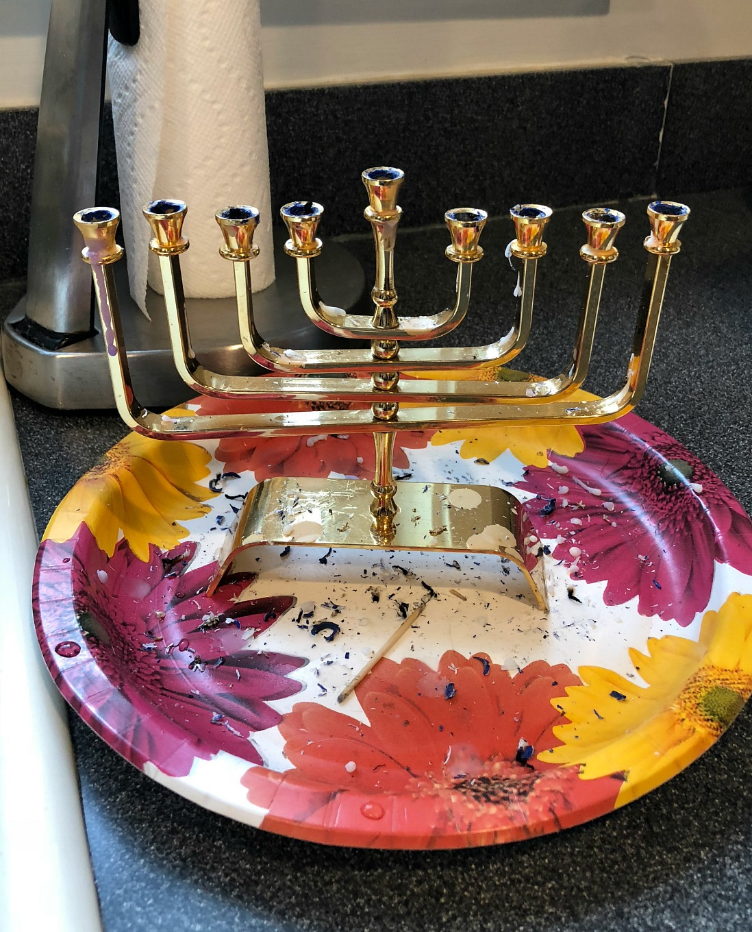 It's hard to clean wax off a menorah but I found the easiest way to clean wax off a menorah