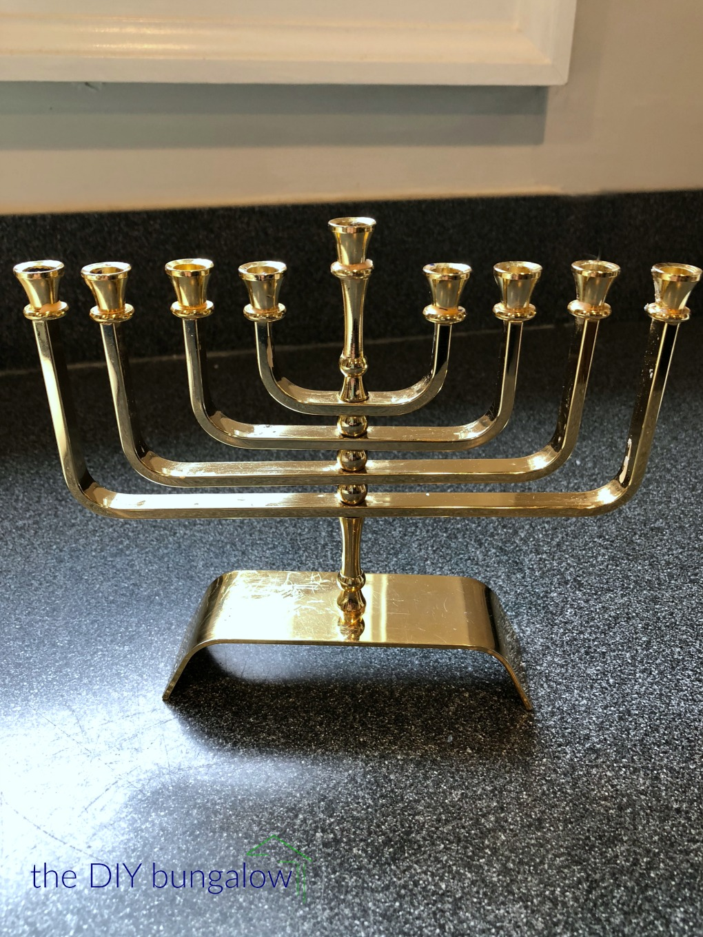 Shiny and clean after using the easiest way to clean wax off a menorah