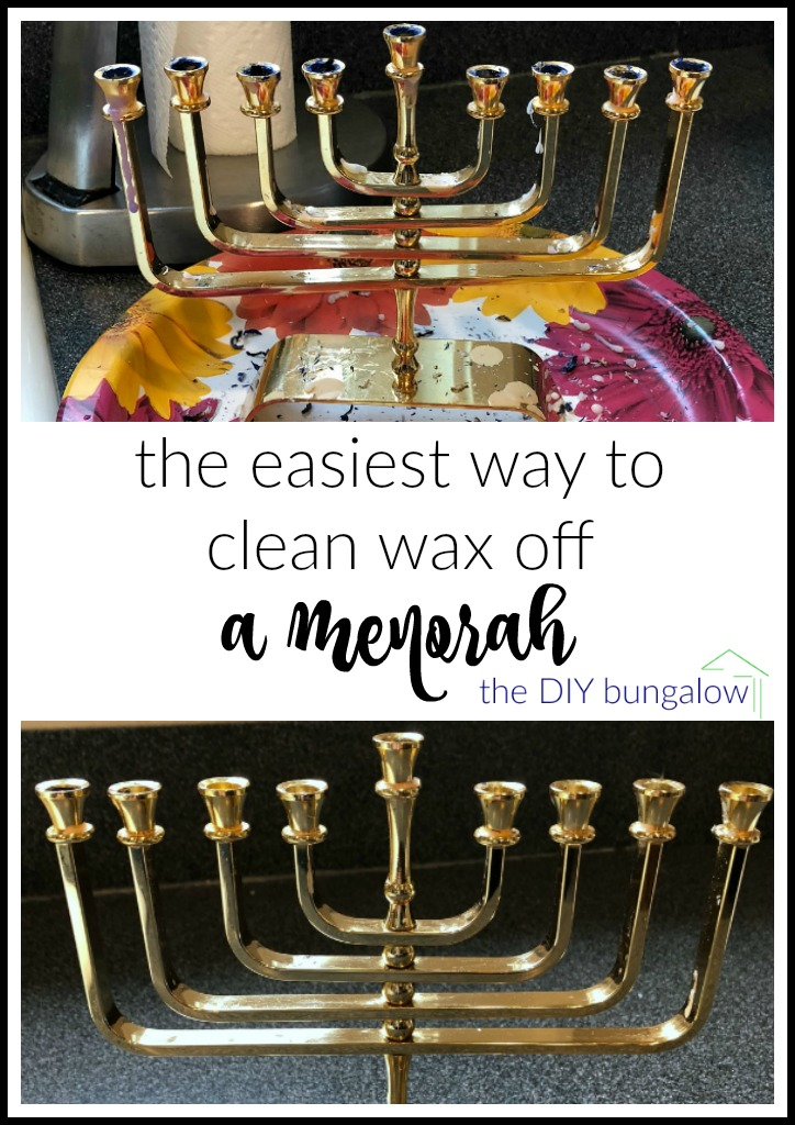 You won't believe what I used to find the easiest way to clean wax off a menorah